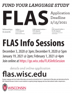 FLAS Awards Info Session Poster